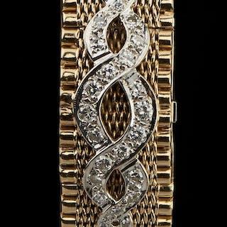 Hebe, montre bracelet mécanique à secret sertie de diamants