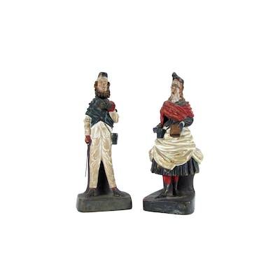 Pair of 20th Century Neapolitan Terracotta Figural Pen-holders