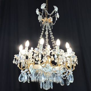 20th Century Italian Chandelier with Capodimonte Porcelain Putti and