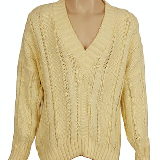 Michael Jackson Owned Worn Yellow Knit Sweater Current Sales