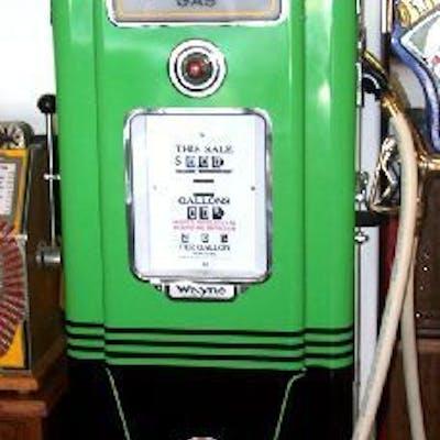 Antique Gas Pump Fully Restored -P- | Barnebys