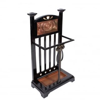 Art Nouveau Iron Stick Stand