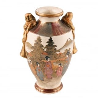 Japanese Meiji Period Satsuma Vase