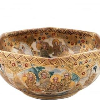 Japanese Satsuma Pottery Bowl