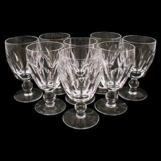 Eight Waterford Crystal Dessert Wine Glasses