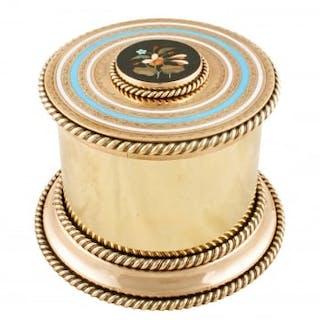Polished Brass Jewel Casket