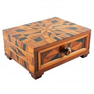 Victorian Parquetry Inlaid Box