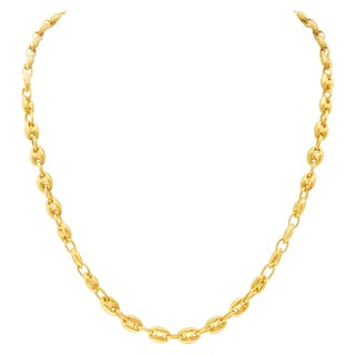 Gucci style link necklace in 18k yellow gold