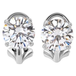 Tiffany & Co Diamond stud earrings in platinum. GIA Certified 1.66