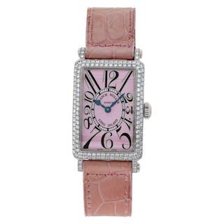 Franck Muller Long Island 902 QZ D 18k white gold Pink dial 23mm Quartz watch