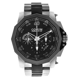 Corum Admirals Cup 277.931.06/0371/AN12 titanium & rubber Black dial