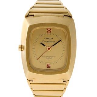 Omega Constellation 196.005 18k Gold dial 37mm Quartz watch