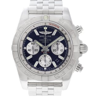 Breitling Chronomat AB0110 stainless steel Black dial 44mm auto watch