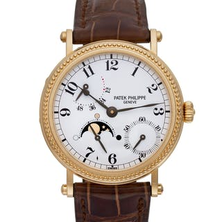 Patek Philippe Power Reserve 5015 18k White dial 35mm Automatic watch