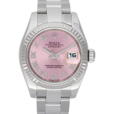 Rolex Datejust 179174 18k Wg & St/s, Pink dial 26mm Automatic watch