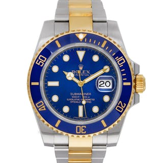 Rolex Submariner 116613 18k Yg & St/S Blue dial, Ceramic bezel, 40mm Auto watch