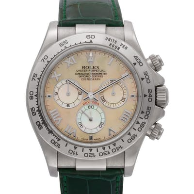 Rolex Daytona 116519 18k White Gold Mother of Pearl dial 38mm Automatic watch