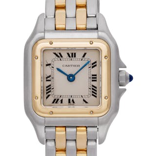 Cartier Panthere 166921 in 18k & stainless steel, Ivory dial 22mm Quartz watch