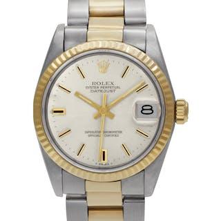Midsize Rolex Datejust 68240 18k & Steel, Silver dial 29mm Automatic watch