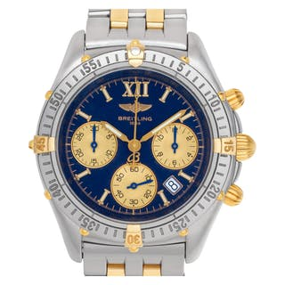 3676736c183 Breitling Jetstream Chronomat B55048 18k   Stainless Steel Blue dial 36mm  Qua