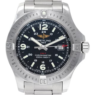Breitling Colt A74388 stainless steel Black dial 43mm Quartz watch