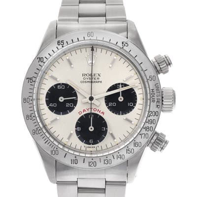 "Rolex Daytona ""Big Red"" 6265 Stainless Steel Silver dial 37mm Automatic watch"