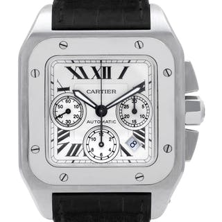 Cartier Santos 100 W20090x8 stainless steel White dial 41mm auto watch