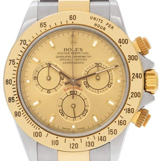 Rolex Daytona 116523 18k & stainless steel Champagne dial 40mm auto watch