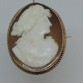 Late Victorian cameo in a 9ct gold mount