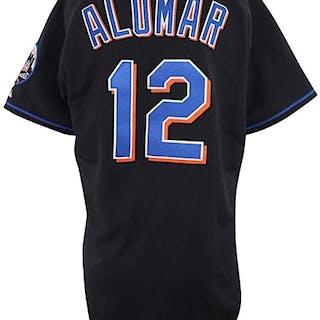 sale retailer 570cd a13a6 2003 Roberto Alomar New York Mets Game-Used Black Alternate ...