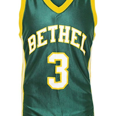 meet f9e98 5c053 Early 1990s Allen Iverson Bethel High School Game-Used Green ...