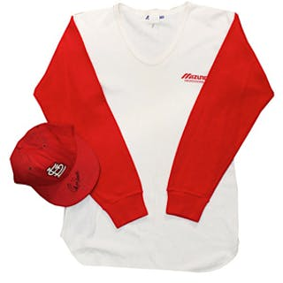 Ozzie Smith St. Louis Cardinals Game-Used & Autographed Cap & Undershirt