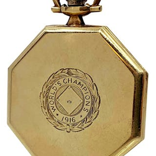 1916 Boston Red Sox Championship Pocket Watch Gifted From Babe Ruth