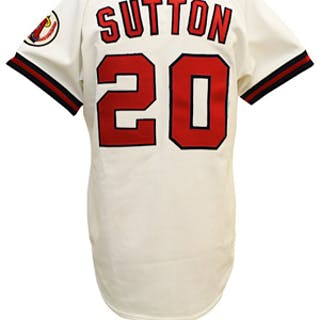 Circa 1985 Don Sutton California Angels Game-Used & Autographed Home