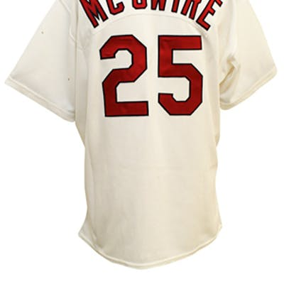 best service dc989 149a1 1999 Mark McGwire St. Louis Cardinals Game-Used Home Jersey ...