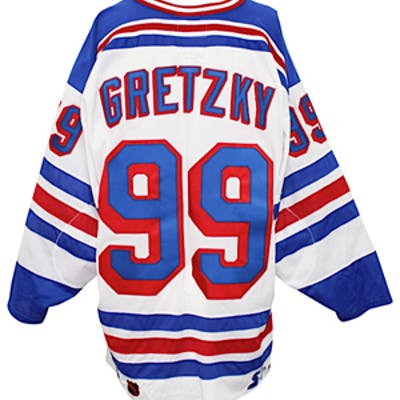 separation shoes 7c107 41b7b 1998-99 Wayne Gretzky New York Rangers Team-Issued Jersey ...