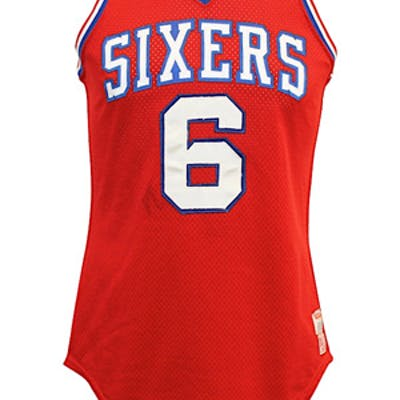 new styles 75583 4515f 1979 Julius Erving Philadelphia 76ers Game-Used Jersey ...