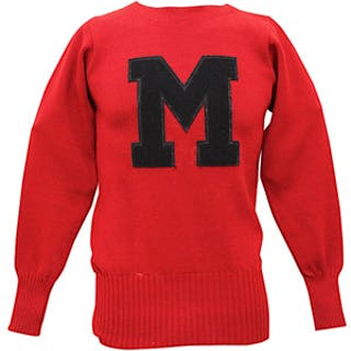 1947 Charlie Conerly Ole Miss Rebels Player-Worn Sweater & Yearbook