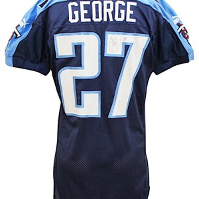 online store 154dd 8598c 2000 Eddie George Tennessee Titans Game-Used & Autographed ...