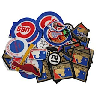 Large Grouping Of Sports Patches Including 2 Roberto Clemente's, NFL