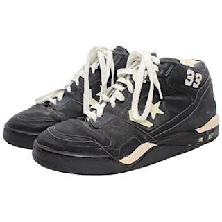 Circa 1990 Larry Bird Boston Celtics Game-Used & Autographed Sneakers (JSA)
