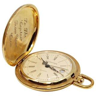 1983 Carl Yastrzemski Boston Red Sox Engraved Pocket Watch Retirement