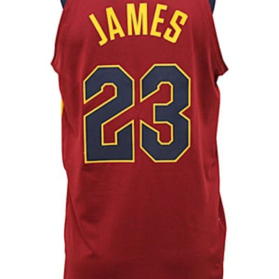 quality design eeb99 080c0 2017-18 LeBron James Cleveland Cavaliers Game-Used Alternate ...