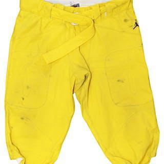 Circa 2017 Michigan Wolverines Game-Used Pants Attributed To Rashan Gary