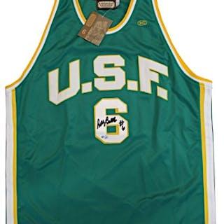 Bill Russell University Of San Francisco Single-Signed Replica Jersey (JSA)