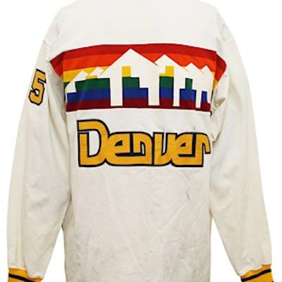 the latest 8adaa dd82b Early 1980s Dave Robisch Denver Nuggets Player-Worn Warm-Up ...