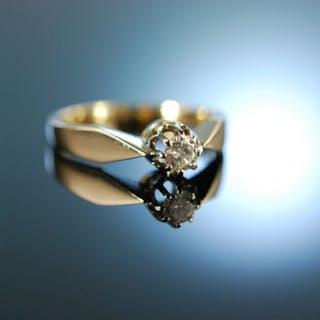 My love! Verlobungs Solitär Ring Brillant 0,2 ct Gold 585