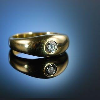 Massiver klassischer Band Ring Verlobungsring Gold 333 Brillant 0,22