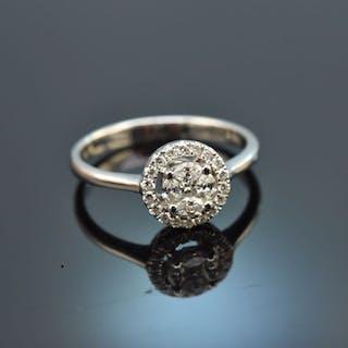Be Mine! Edler Brillant Verlobungs Engagement Ring Weiß Gold 750