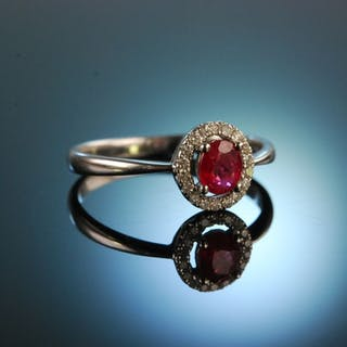 For you! Klassischer Diamant Verlobungs Freundschafts Ring Weiß Gold